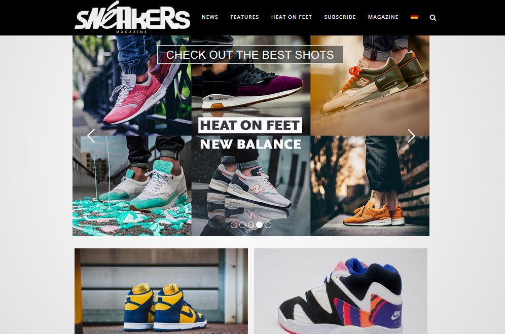 Webseite vom Sneakers Magazine